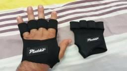Luva Fitness sem polegar, para exercícios, academia, musculação, em neoprene
