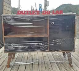 Rack  retrô 1 porta 1 gaveta