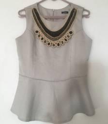 Blusa prata para festa