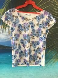 Título do anúncio: Blusa Spuk florida de malha com renda