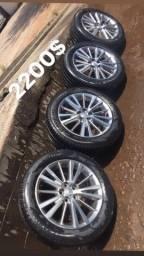 Rodas do corola aro 16 5 furos com pneus zero
