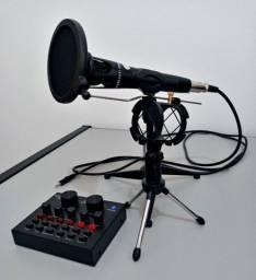 Microfone Condensador SF Encore 300 + Interface USB Android V8