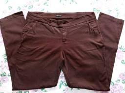 Calça Marrom Plus Size - 46