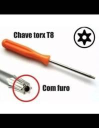 Chave Torx T8 com furo - Abre Ps3, Ps4, Ps5, Reparo controle Xbox one 360
