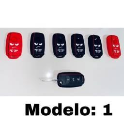 Capa de Silicone Protetora Para Chave Canivete VW para Gol/Fox/Saveiro/Up/Voyage