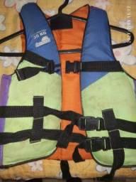 Colete Salva Vidas 30kg com detalhes de uso<br>