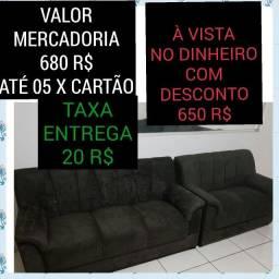 sofa  03 e 02 lugares novo