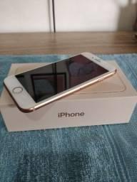 Iphone 8 rose gold 128gb, estado zero. Icloud livre