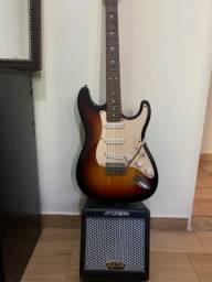 Guitarra eagle e amplificadora