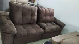 Sofá retrátil e reclinável 4lug. - PROMOÇÃO