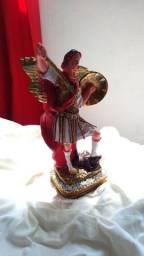 Imagem Sacra de São Miguel arcanjo artesanal