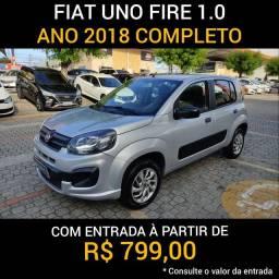 Fiat uno drive ano 2018 completo. Loja Loucos por Carros