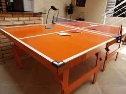Mesa ping pong tênis de mesa completa pingue-pongue