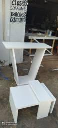 Conjunto mesa centro e aparador
