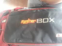 Rasther box tm536 com cabo pra moto e carro