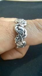Anel prata 925 feito à mão.