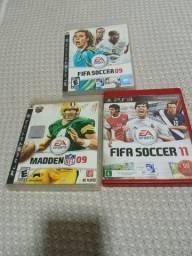 Vários jogos de esportes antigos ps3
