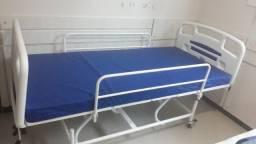 Cama Hospitalar 6 movimentos/Grades de aço + Colchão + Acessórios
