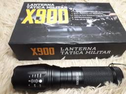Lanterna tática militar x900 recarregável com zoom