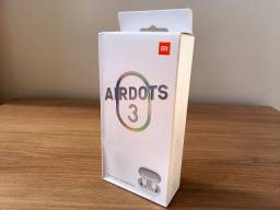 Fone de Ouvido Bluetooth Redmi Airdots 3 Branco Xiaomi Original + Case + Fivela