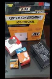 kit alarme completo residencial ou comercial (inclui acessórios)