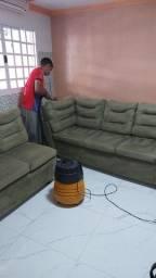 Higienização do seu sofá L a seco