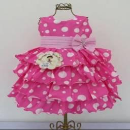 Vestidos Temáticos Minnie Rosa