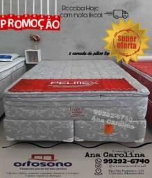 Cama Conjunto Molas Ensacadas c Duplo Pillow top ____