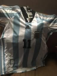 Camisa oficial da Argentina personalizada