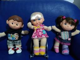 Trio Bonecos Teleton