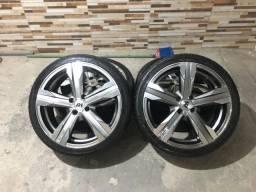 Jogo de Rodas aro 17 com pneus novos 4 furos Replica do Camaro