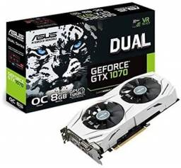 Placa vídeo GTX 1070 8gb OC Asus White