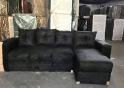 Estofado 4 lugares com chaise Novo