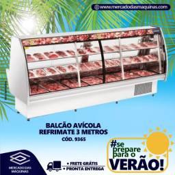 Balcão avícola com bandejas 3 metros Refrimate Novo Frete Grátis
