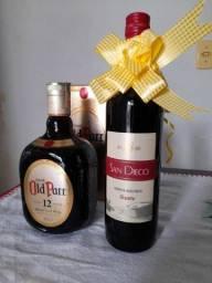 Whisky Old Parr 12 anos + Vinho suave