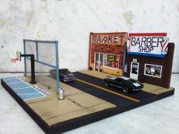 Diorama e miniaturas hotwheels!