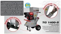 Triturador de Galhos e Forrageiro TG1400-S 14 Hp a gasolina Kawashima