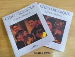 Livro Chico Buarque Letra e Música (2 livros) - Cia. das Letras - Usados em ótimo estado