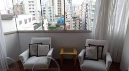 Locação apartamento mobiliado, quadra mar 02 dormitórios (01 suíte) +dependência, BC