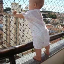 Promoção proteja sua família redinha de proteção instalada em janelas sacadas