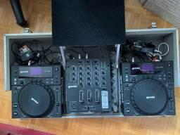 KIT DJ Gemini - CDJs 250 e Mixer PS3 + BRINDE