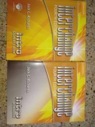 Livro Inglês Interchange 1 - texto e exercícios sem uso