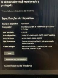 notebook dell i5 - 8gb RAM - Placa vídeo 4GB (940MX)