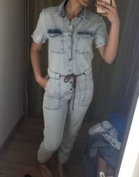 Macacão e shorts jeans