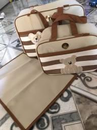 Kit bolsa para bebê com trocador