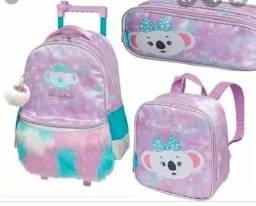 Kit mochila de rodinhas lilica ripilica