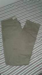 Calças jeans com elástico e sem (normal)