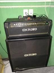 Cabeçote meteoro+gabinete+guitarra gibison comprar usado  São José dos Pinhais