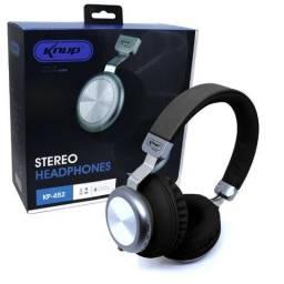 Fone de Ouvido Bluetooth 5.0 KP-452 Knup Com Microfone Rádio FM Micro SD MP3 Recarregável