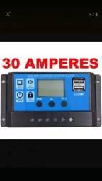 Controlador de carga 30 amperes, novo, entrega grátis